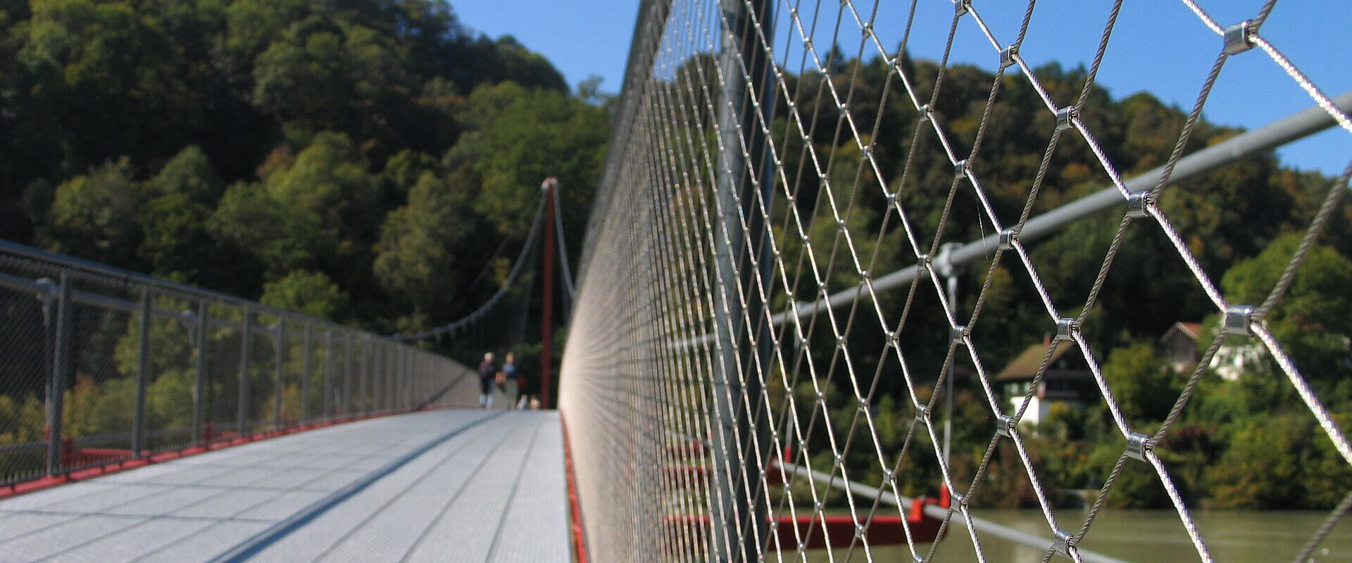 Architectural rope mesh netting