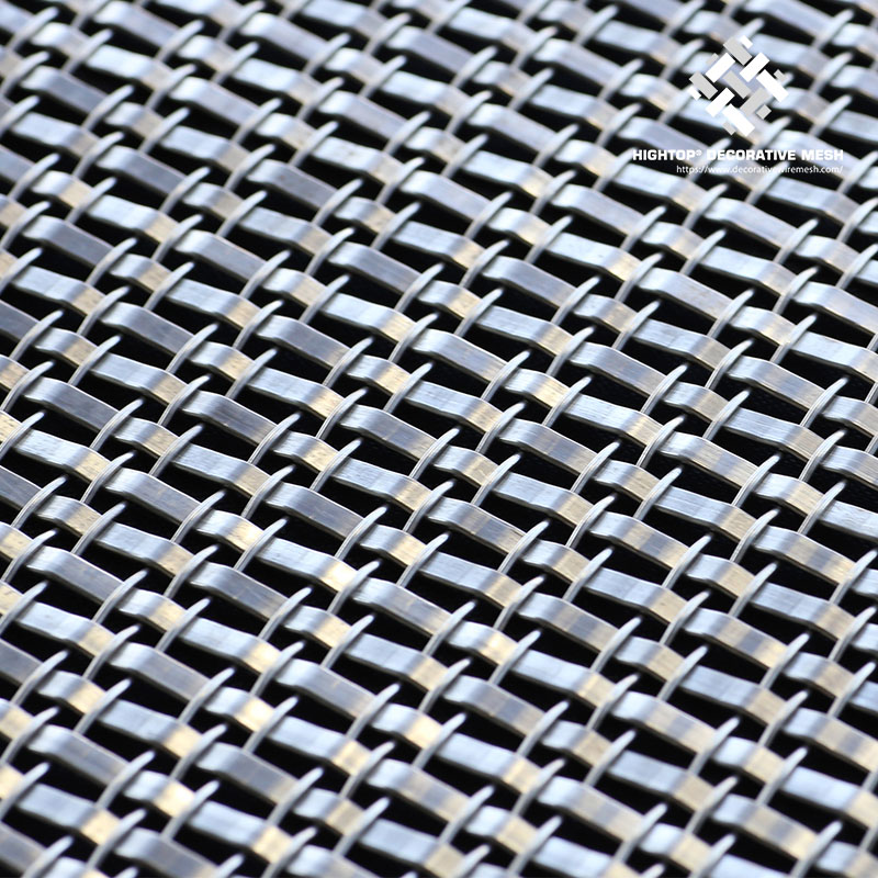 Architectural Woven Metal Mesh Sheets for Hotel Decoration