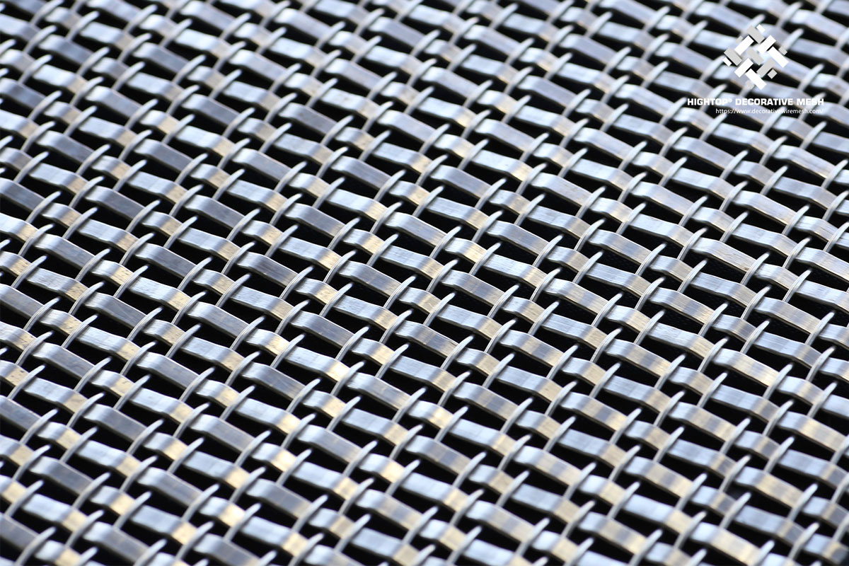 architectural woven metal mesh sheets for hotel lobby