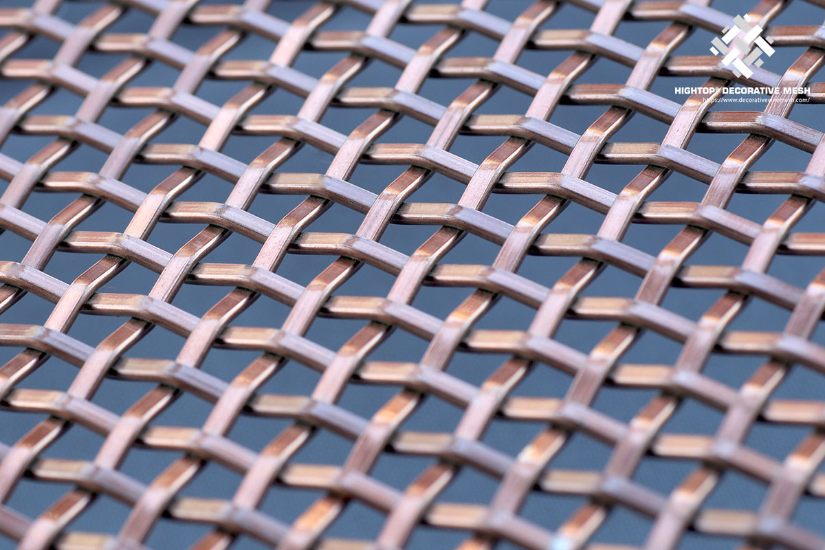 antique copper wire mesh panels