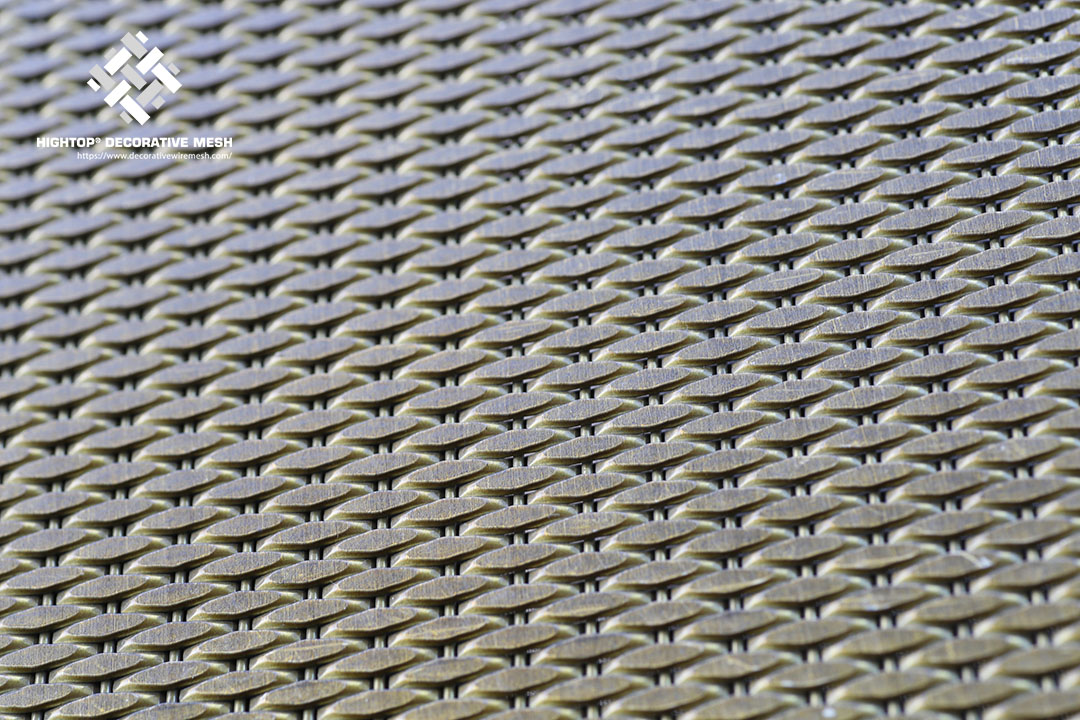 Decorative Antique Brass Wire Mesh Panels