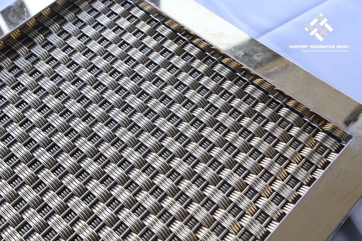 decorative framed mesh panels