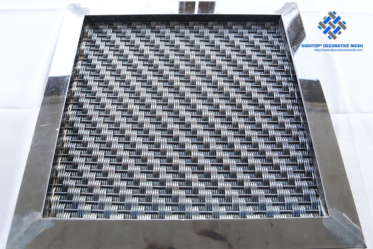 decorative framed mesh panel