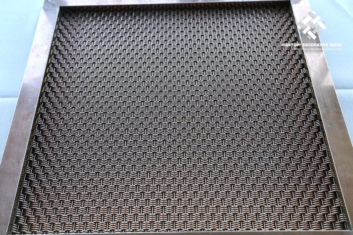 metal mesh panel with frame