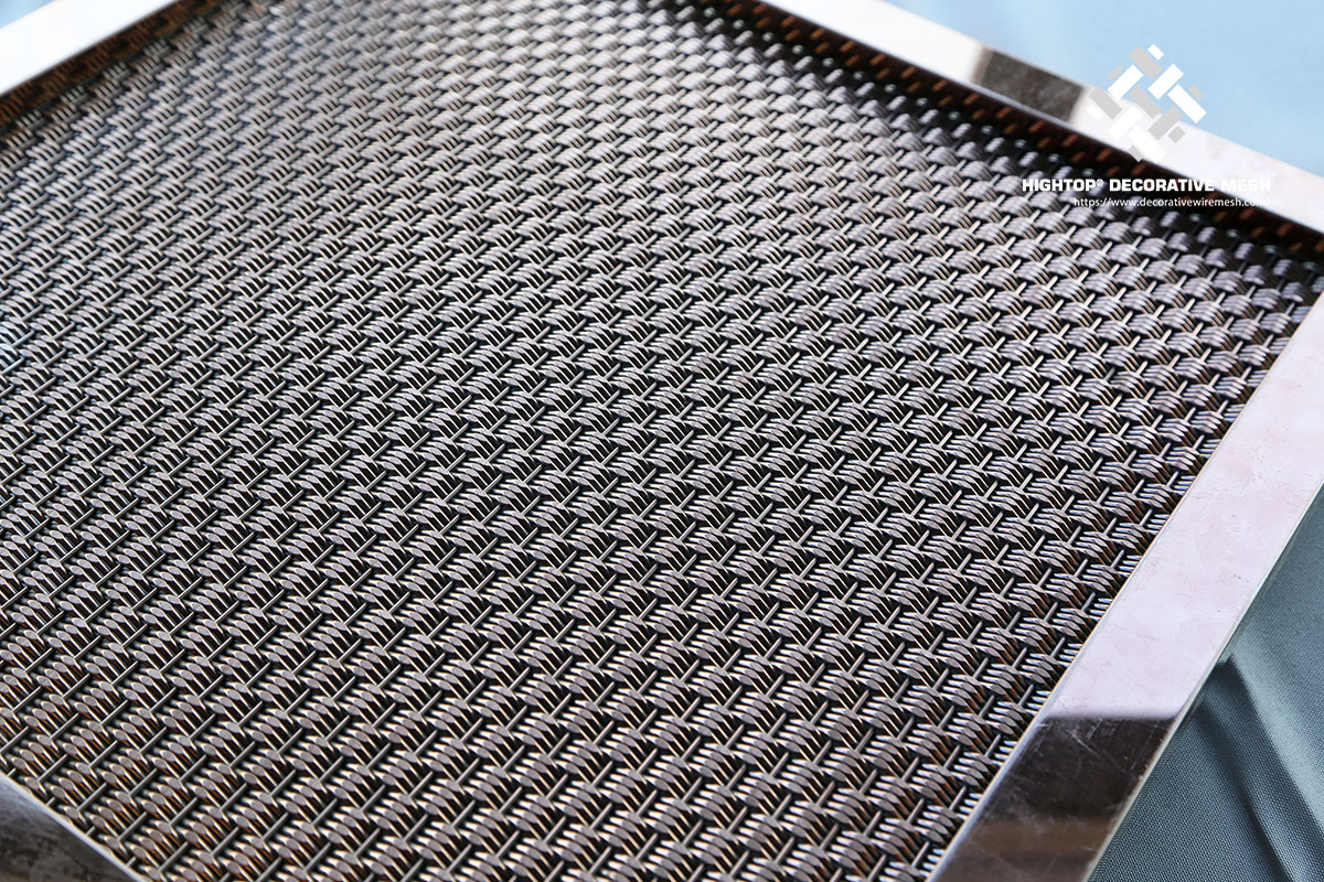 wire mesh panel with frame