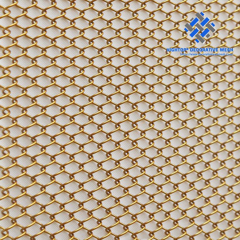 cascade architectural metal coil drapery