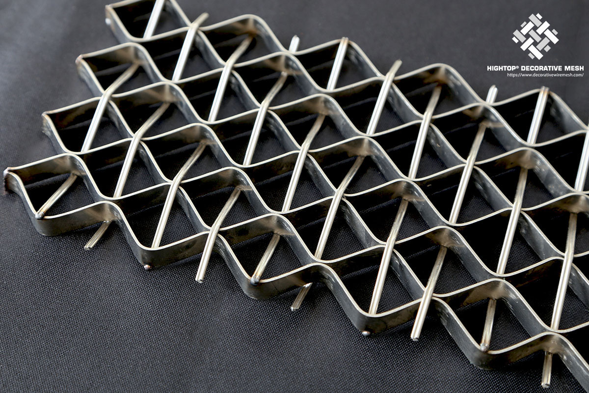 stainless wire mesh stair railing panel