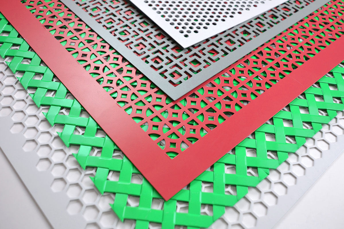 powder coated decorative perforated sheet metal
