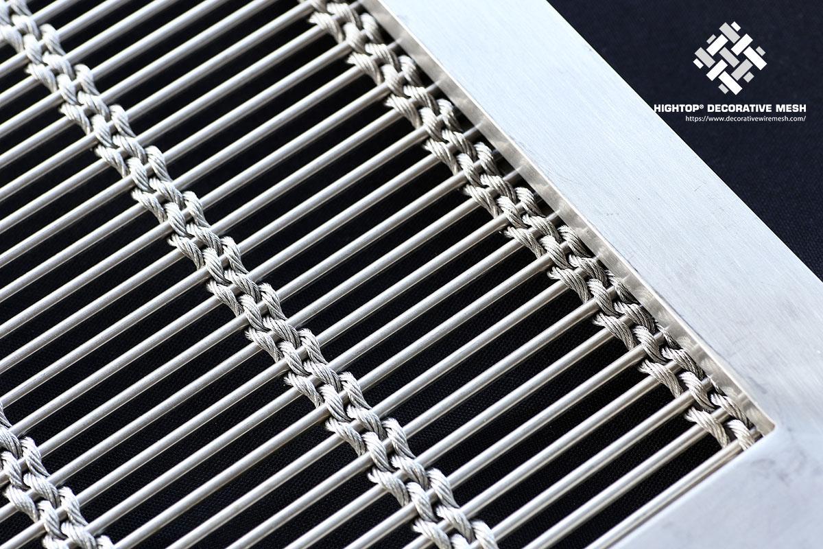 framed wire mesh panels