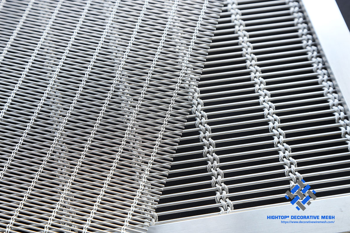 framed wire mesh panel