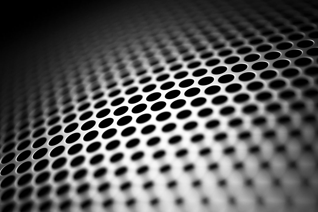 round hole black perforated metal sheet
