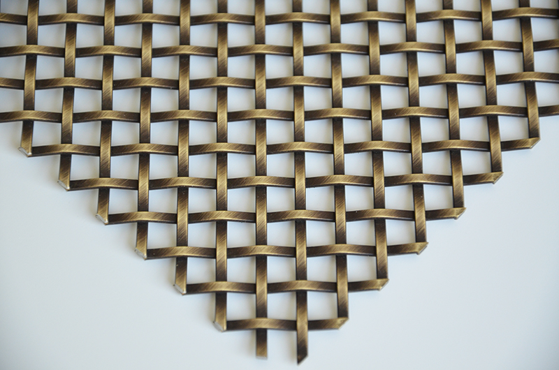 Antique Brass Decorative Wire Grilles For Cabinet Doors