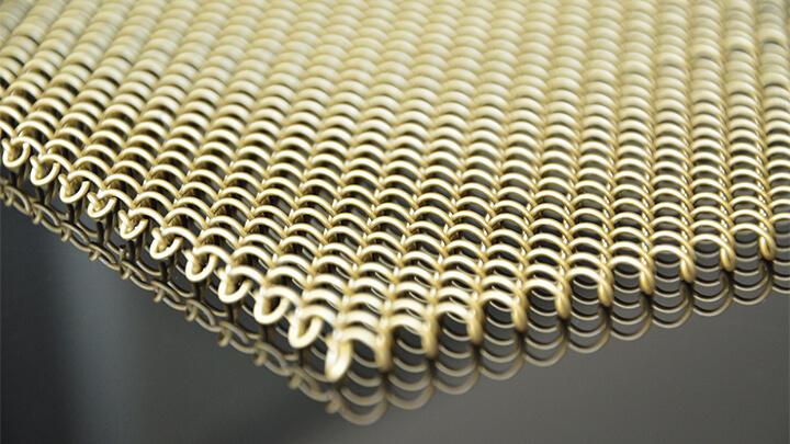 Decorative mesh fireplace screen