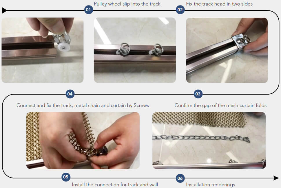 Metal Coil Curtain installation guide