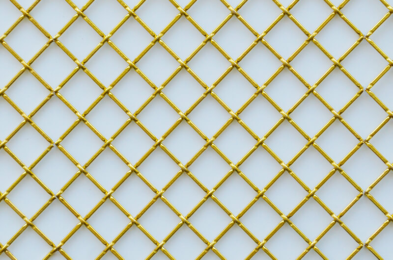 decorative brass wire mesh grill for cabinet doors
